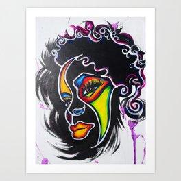 Color Me Fierce Art Print