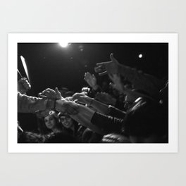 Crowd saying thank you to lead singer Art Print