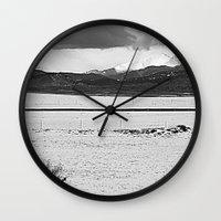 twin peaks Wall Clocks featuring Twin Peaks by Jennifer L. Craft