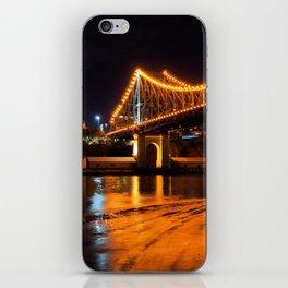 Low Tide under the Storey Bridge iPhone Skin
