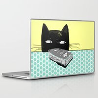 kitty Laptop & iPad Skins featuring Kitty  by Mary Kilbreath