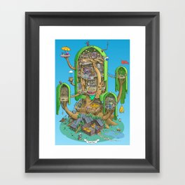 Home on a Tree Framed Art Print