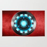 iron man Area & Throw Rugs featuring Iron Man Iron Man by ThreeBoys