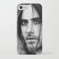 jared leto iPhone & iPod Cases featuring Jared Leto by Luna Perri