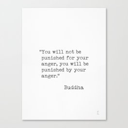 Buddha typed quotes Canvas Print