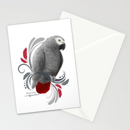 African Grey Stationery Cards
