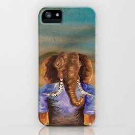 The Elephant with tribal tattoo  iPhone Case