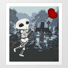 Skeleton's heart Art Print