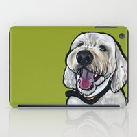 kermit iPad Cases featuring Kermit the labradoodle by Pawblo Picasso