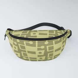 Mid Century Modern Abstract 214 Olive Green Fanny Pack