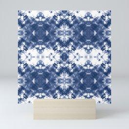 Shibori Tie Dye Indigo Blue Mini Art Print
