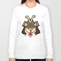 shiba inu Long Sleeve T-shirts featuring Shiba Inu by Lottie