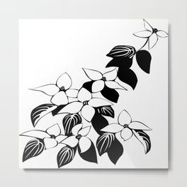 Ecological floral flowers leaf Metal Print
