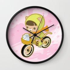 Blossom Ride Wall Clock