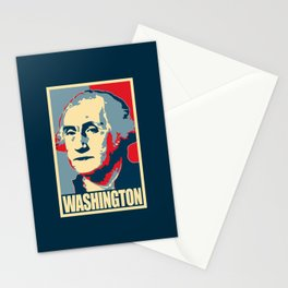 George Washington Propaganda Pop Art Stationery Cards