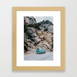 Classic Campervan Adventures Framed Art Print