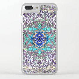Ironwork Psychedelic Clear iPhone Case