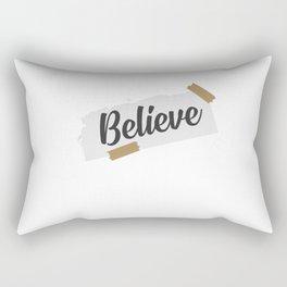 Believe Christian Quote Faith Church Rectangular Pillow
