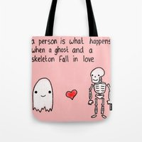 medical Tote Bags featuring Medical Fact by Eat Yr Ghost