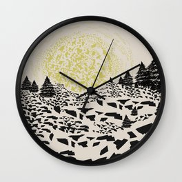 Trippy hills Wall Clock