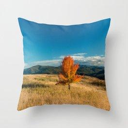 Simple Fall Tree Throw Pillow
