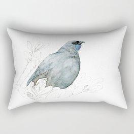 Kōkako, New Zealand native bird Rectangular Pillow