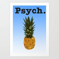 psych Art Prints featuring Psych by Lauren Lee Design's