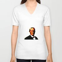 chuck V-neck T-shirts featuring - chuck - by Digital Fresto