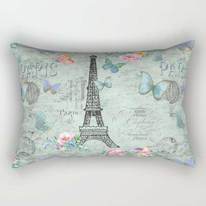 Paris - my love - France Eiffeltower Nostalgy - French Vintage Rectangular Pillow