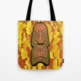Mean Face Tiki Tote Bag
