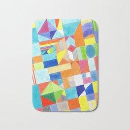 Playful Colorful Architectural Pattern Bath Mat
