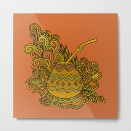 Yerba Mate In The Gourd Metal Print