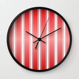 Red Racing Stripes Wall Clock