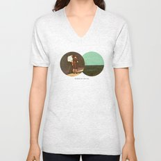 Boring by The Sea | Collage Unisex V-Neck