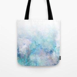 Fresh Blue and Aqua Ombre Frozen Marble Tote Bag