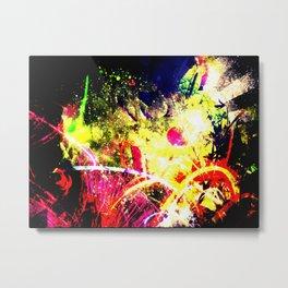 Tomato Color Explosion Metal Print