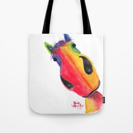 Happy Horse ' AppLETiNi ' by Shirley MacArthur Tote Bag