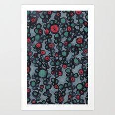 inky vines Art Print
