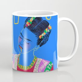 FRIDA KAHLO AND HER KNIFE Coffee Mug