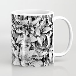 Leaves in Black and White Coffee Mug