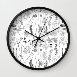 Botanical Drawings by young school kids artists, profits are donated to The Ivy Montessori School Wall Clock