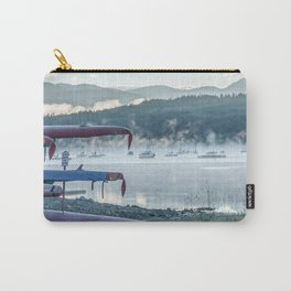 Sail Boat Lake Fog // Calming Sunrise in the Mountains on the Water Carry-All Pouch