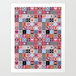 Abstract Geometric Pattern #511 Art Print