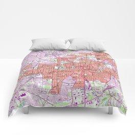 Vintage Map of Greensboro North Carolina (1951) Comforters