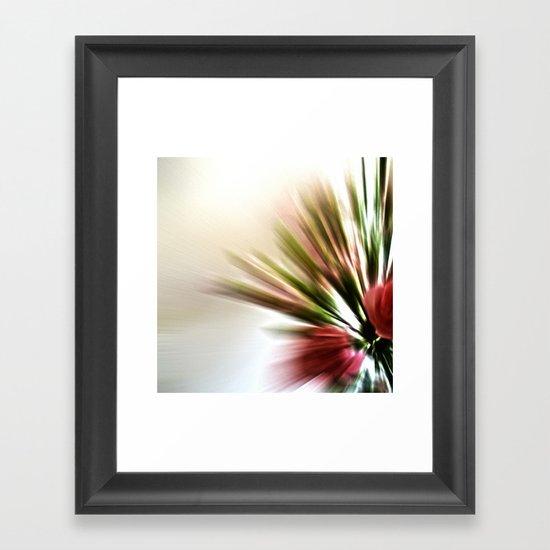 Radial Roses Framed Art Print