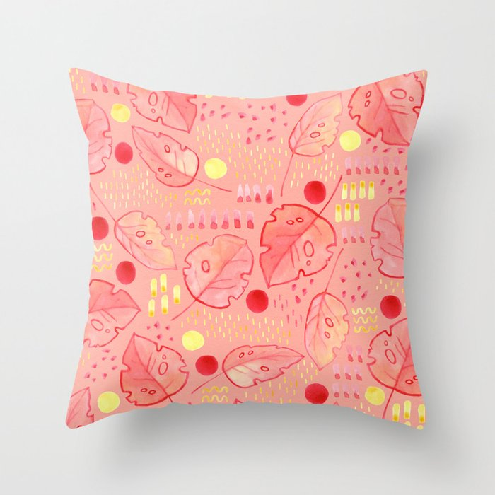 Sanguine Summer Throw Pillow
