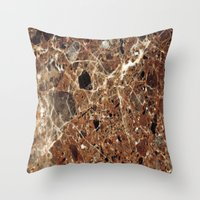 30 rock Throw Pillows featuring Marble Texture 30 by Robin Curtiss