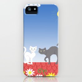 Cats on the roof iPhone Case