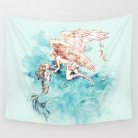 alicexz Wall Tapestries featuring Star-cross'd Lovers by Alice X. Zhang
