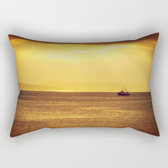 Going Fishing at sunset Rectangular Pillow